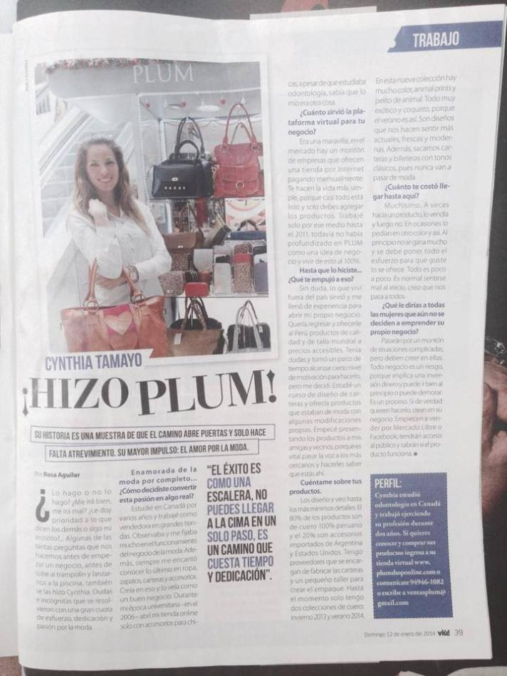 entrevista en el Diario el Comercio