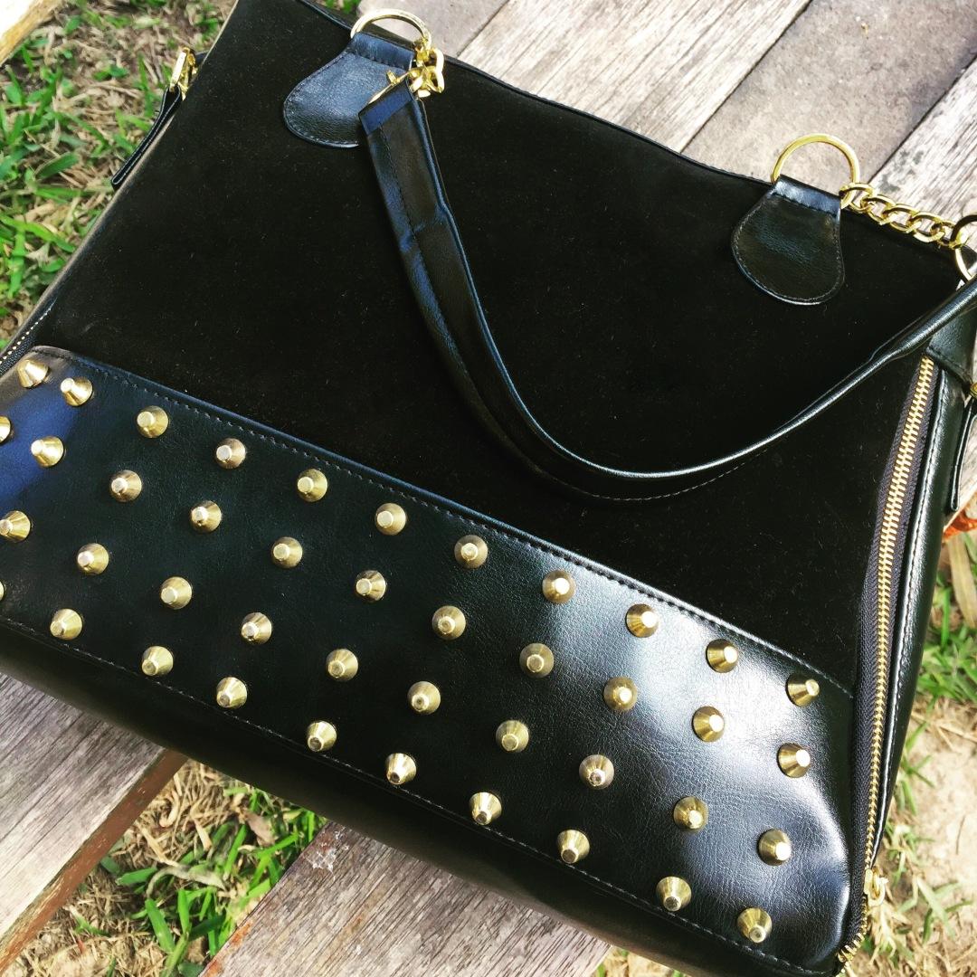 cartera de moda negra para mujer
