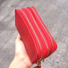 cartera monedero de cuero roja PLUM - Cala modelo 1 (3)