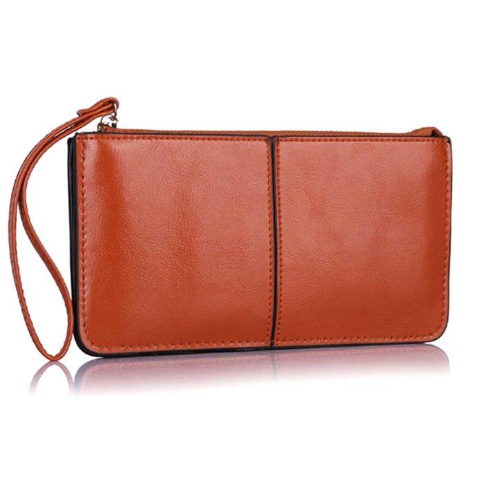 clutch marron - plum - pia