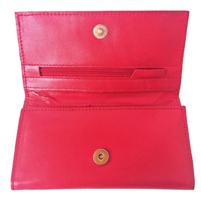 SKU 14713901 Billetera de cuero roja con dorado PLUM - Lucia (20)