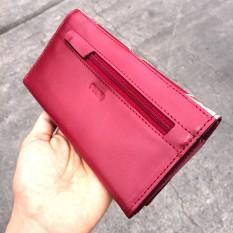 SKU 14713901 Billetera de cuero roja con dorado PLUM - Lucia (26)