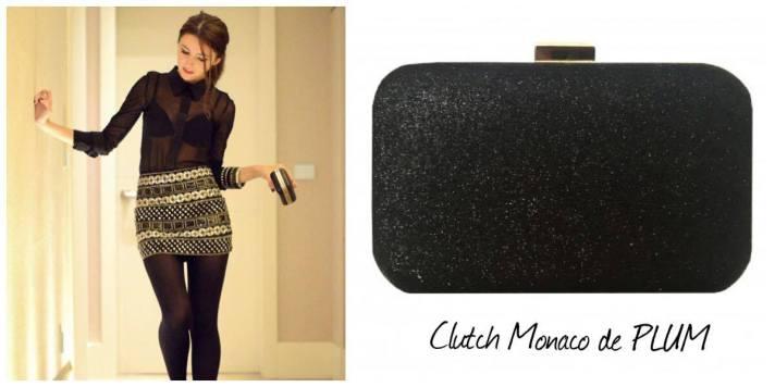 clutch negro monaco 21