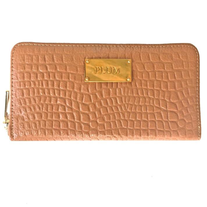 SKU 14630664 - Billetera de cuero beige Sofia - PLUM (7)