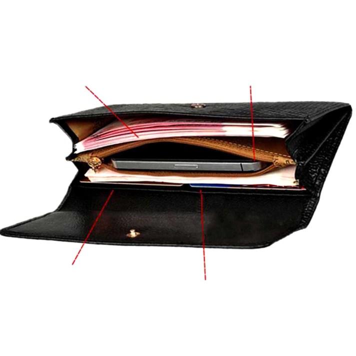 Billetera negra - PLUM - Luisa interior